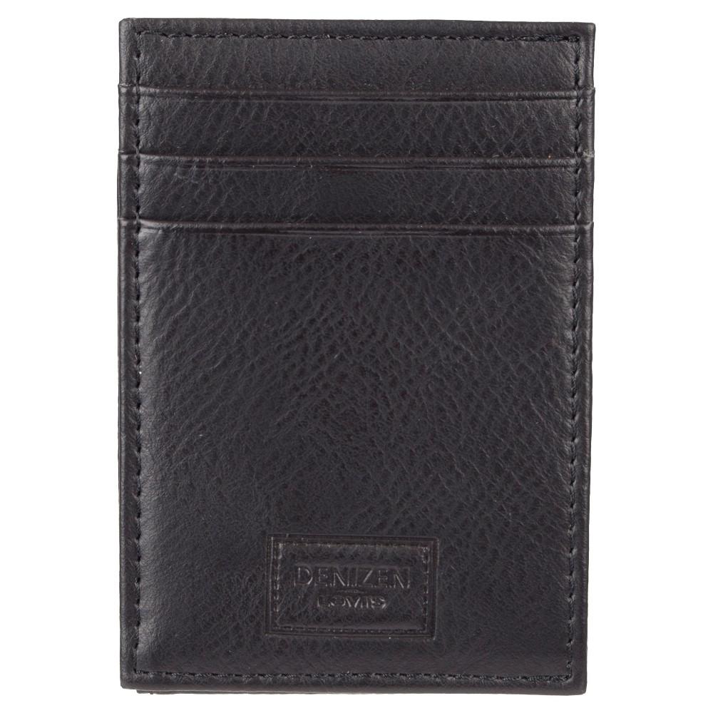 Denizen from Levis Mens Wide Magnetic Front Pocket Wallet - Black