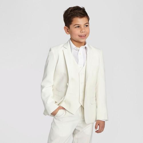 Wd·ny Boys' Communion Suit Blazer - White 5, Boy's