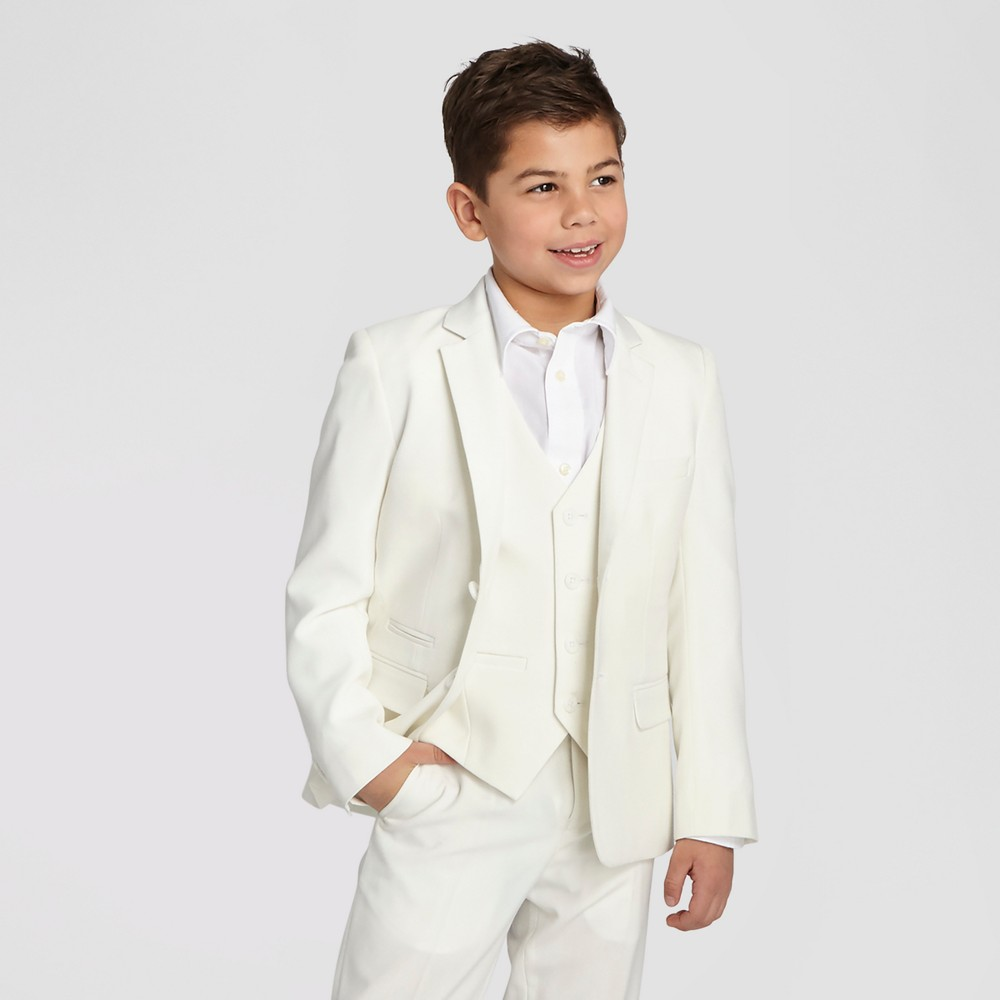 Wd·ny Boys Communion Suit Blazer - White 20