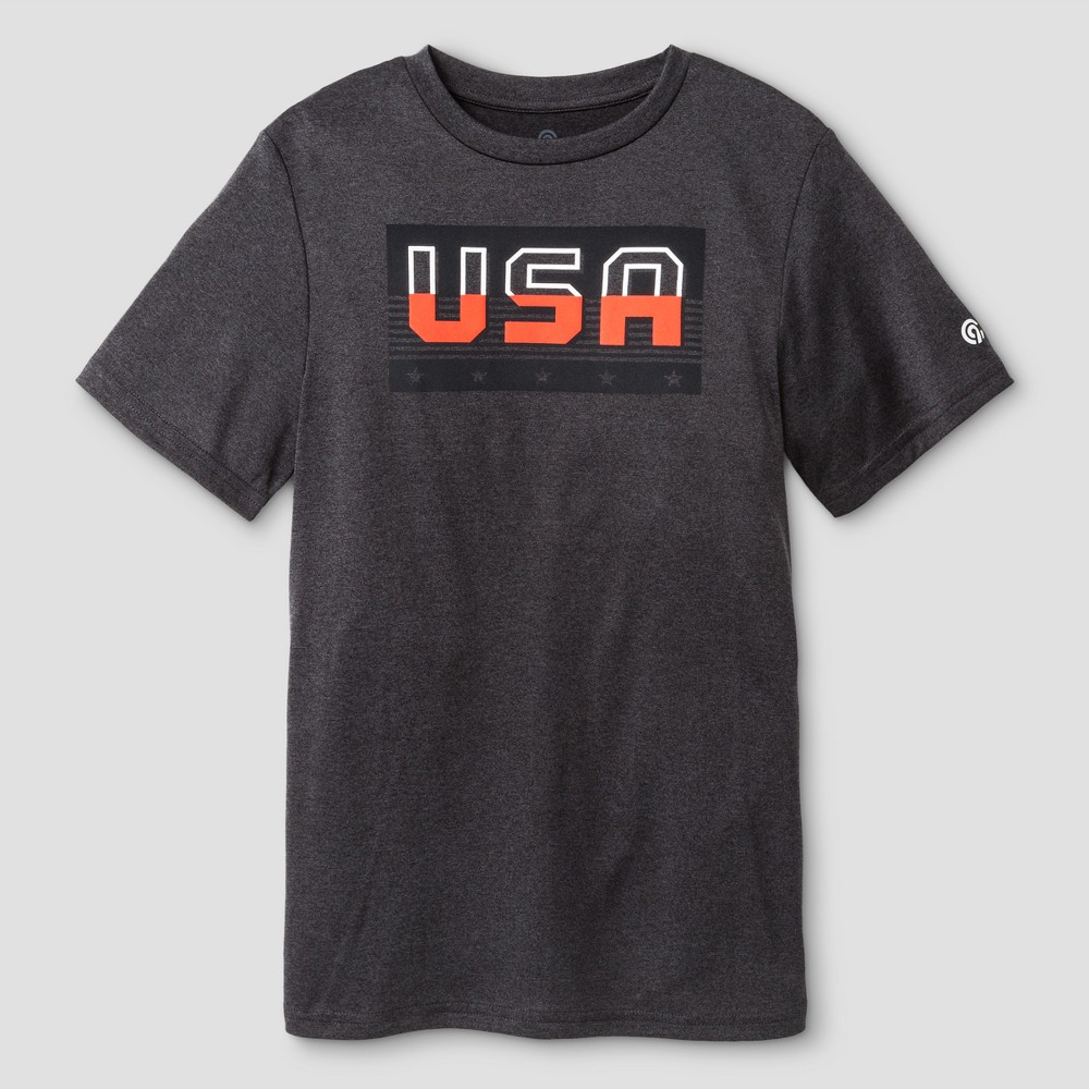 Boys Graphic Tech T-Shirt - C9 Champion - Black Heather S - USA