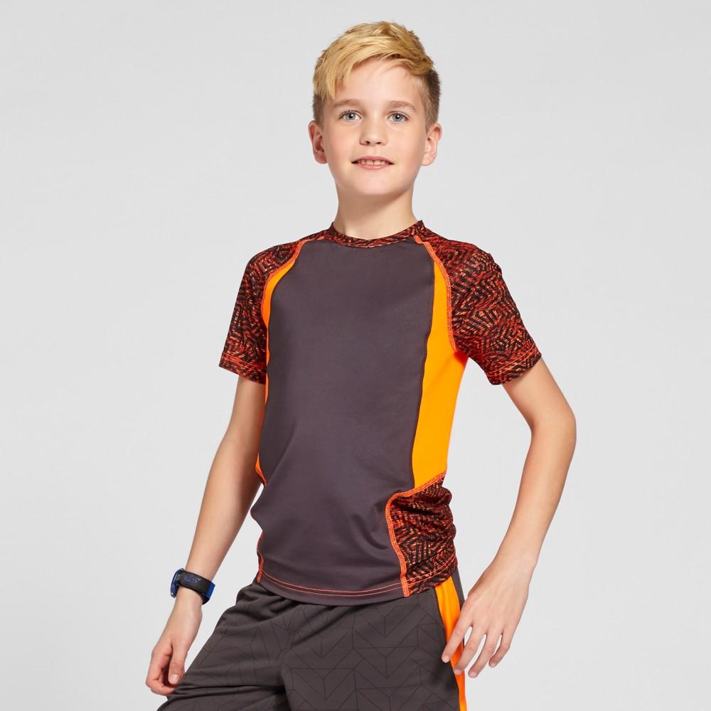Boys Novelty Compression Shirt - C9 Champion - Orange Print M
