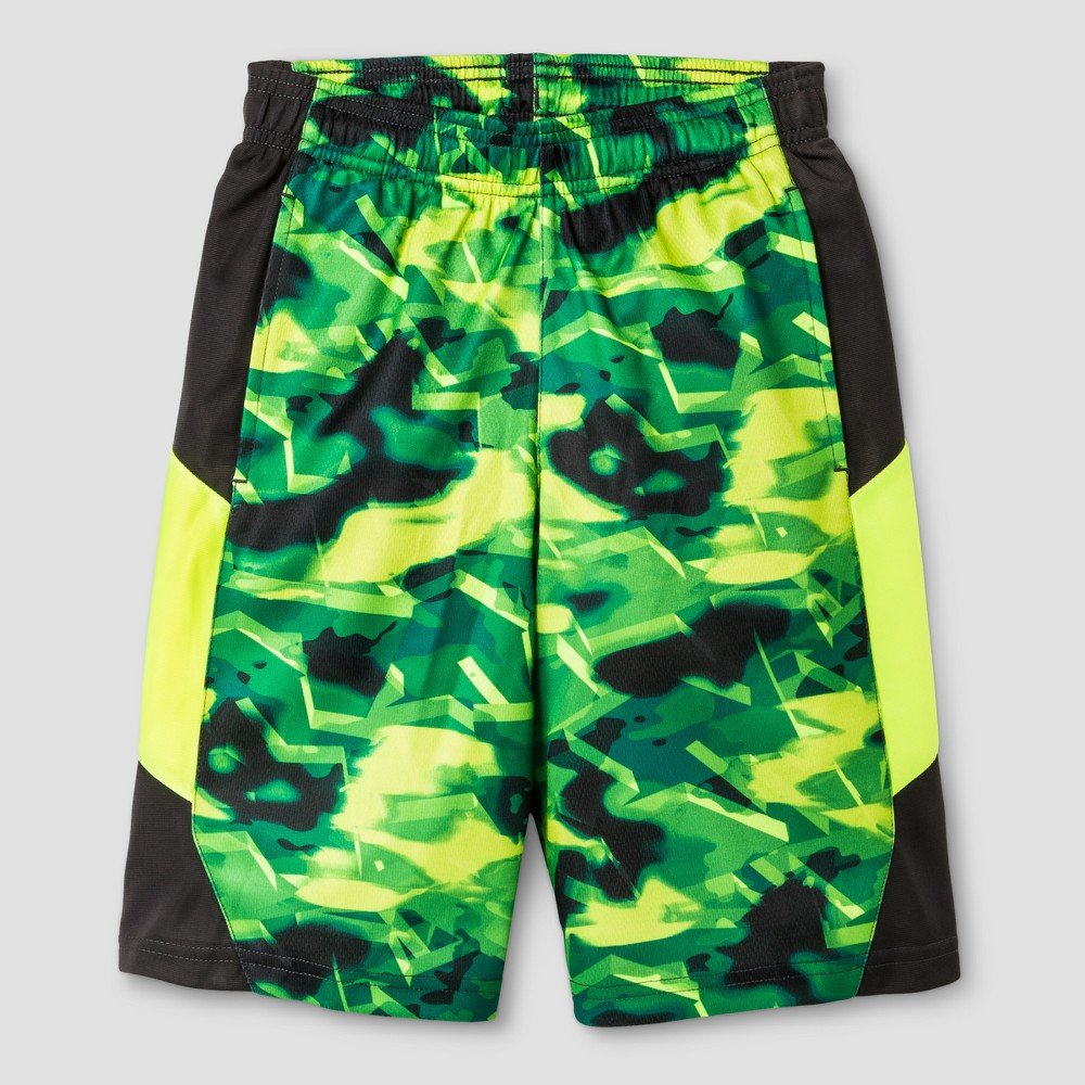 Boys Printed Training Shorts - C9 Champion Green Print XS