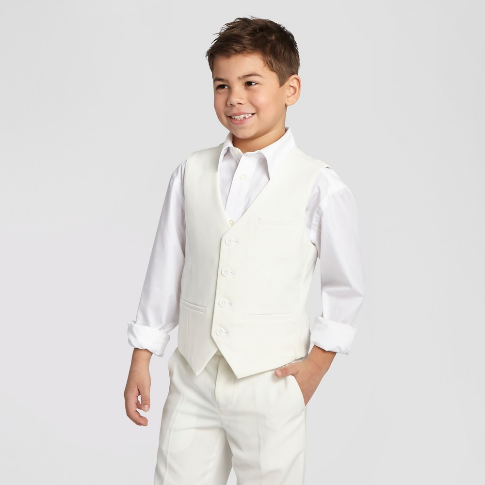 Wd·ny Boys' Communion Suit Vest – White 6, Boy's