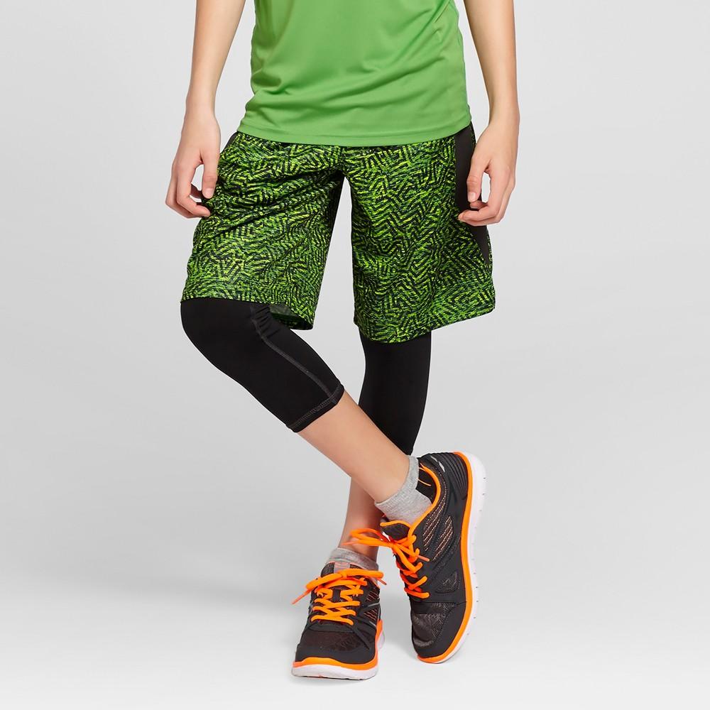 Boys Novelty Training Shorts - C9 Champion Green Print M