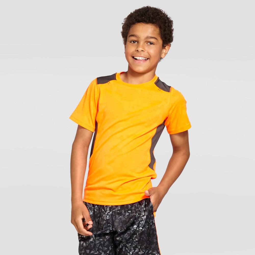 Boys' Textured Camo Tech T-Shirt - C9 Champion - Orange Camo XL