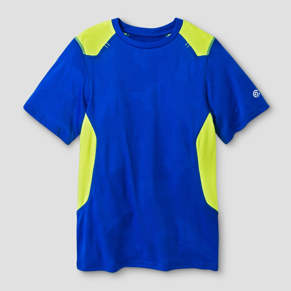 Boys Textured Camo Tech T-Shirt - C9 Champion - Blue Camo S