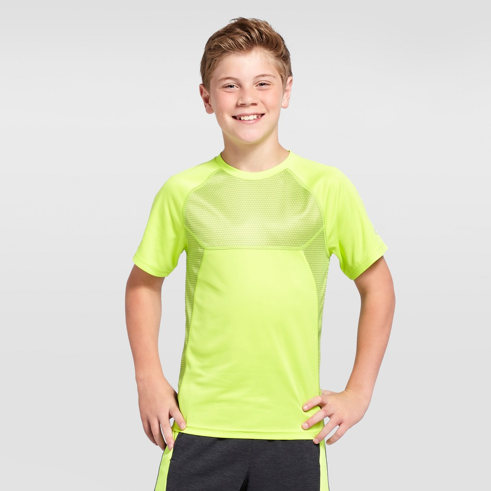 Boys Printed Hexagon Tech T-Shirt - C9 Champion - Green L