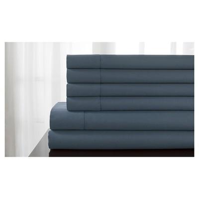 Delray Hemstitch Solid Bonus Sheet Set (Full)Slate Blue