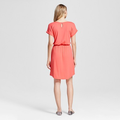 Women's Short T-Shirt Dress - Merona Bright Coral (Pink) Xxl