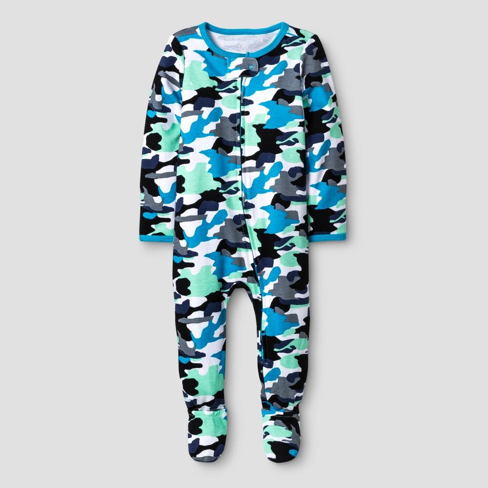 Oh Joy! Baby Boys Cuff Foot Sleep N Play - Blue 3-6M, Size: 3-6 M