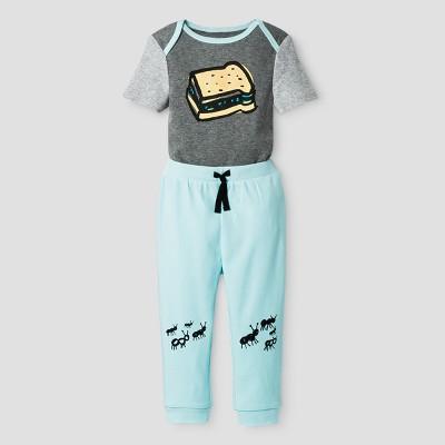 Oh Joy!® Baby Boys' Bodysuit + Pants Set - Blue 6-9M