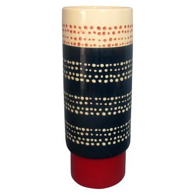 Tall Stoneware Hand-painted Vase - Threshold™