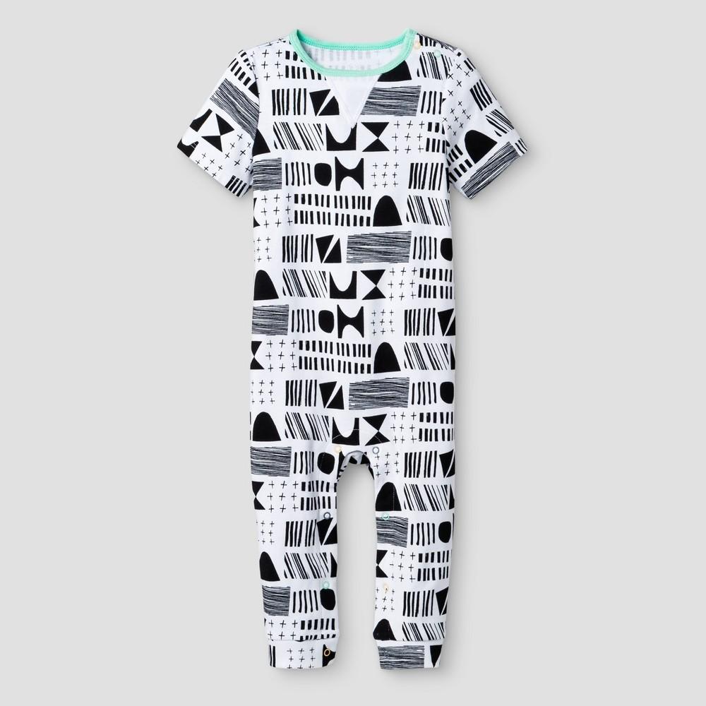 Oh Joy! Baby Geometric Pants Romper - Black/White 18M, Infant Unisex, Size: 18 M