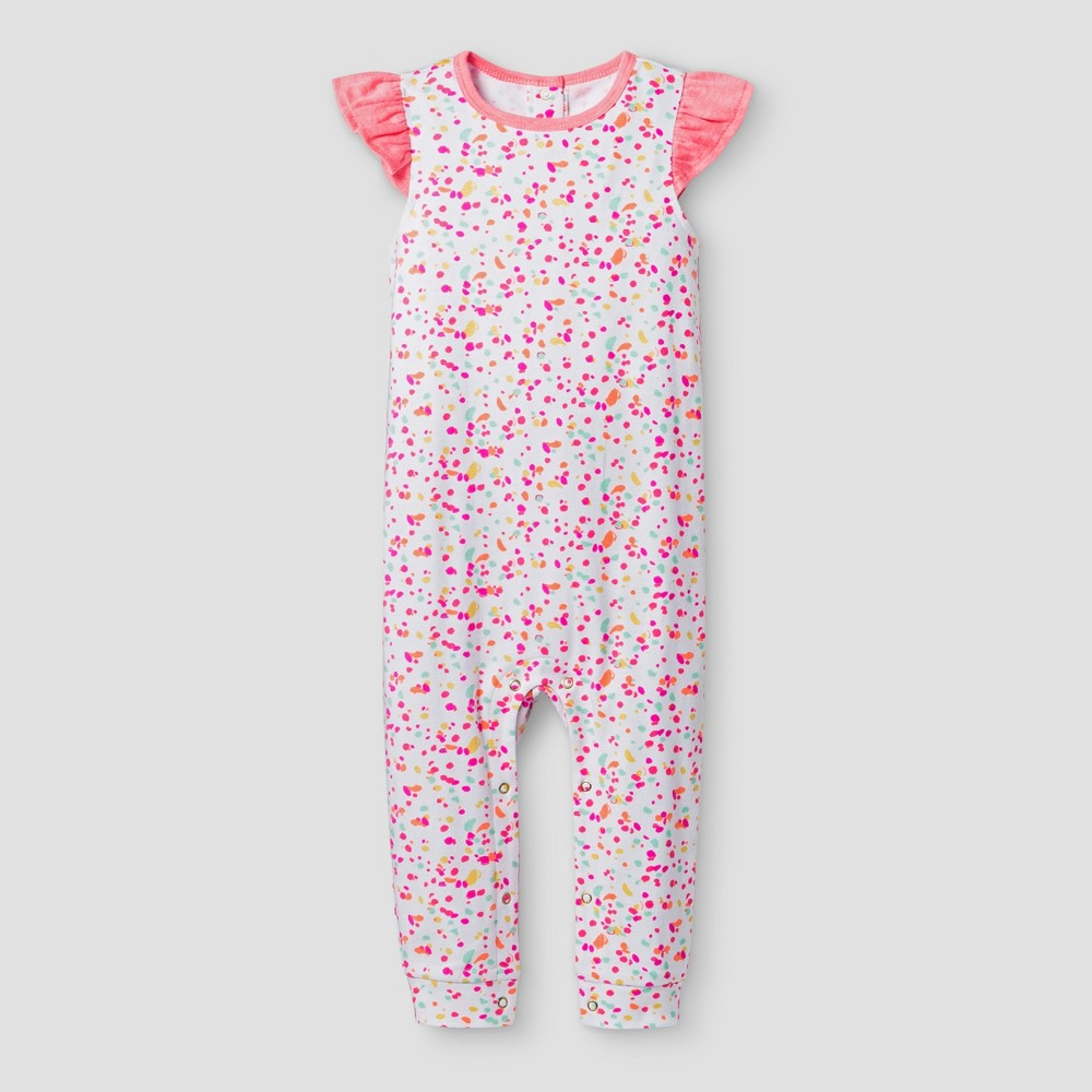 Oh Joy! Baby Girls Dot Pants Romper - 18M, Size: 18 M, Pink