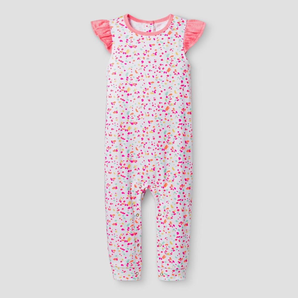 Oh Joy! Baby Girls Dot Pants Romper - 3-6M, Size: 3-6 M, Pink