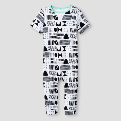Oh Joy!® Baby Geometric Pants Romper - Black/White 0-3M