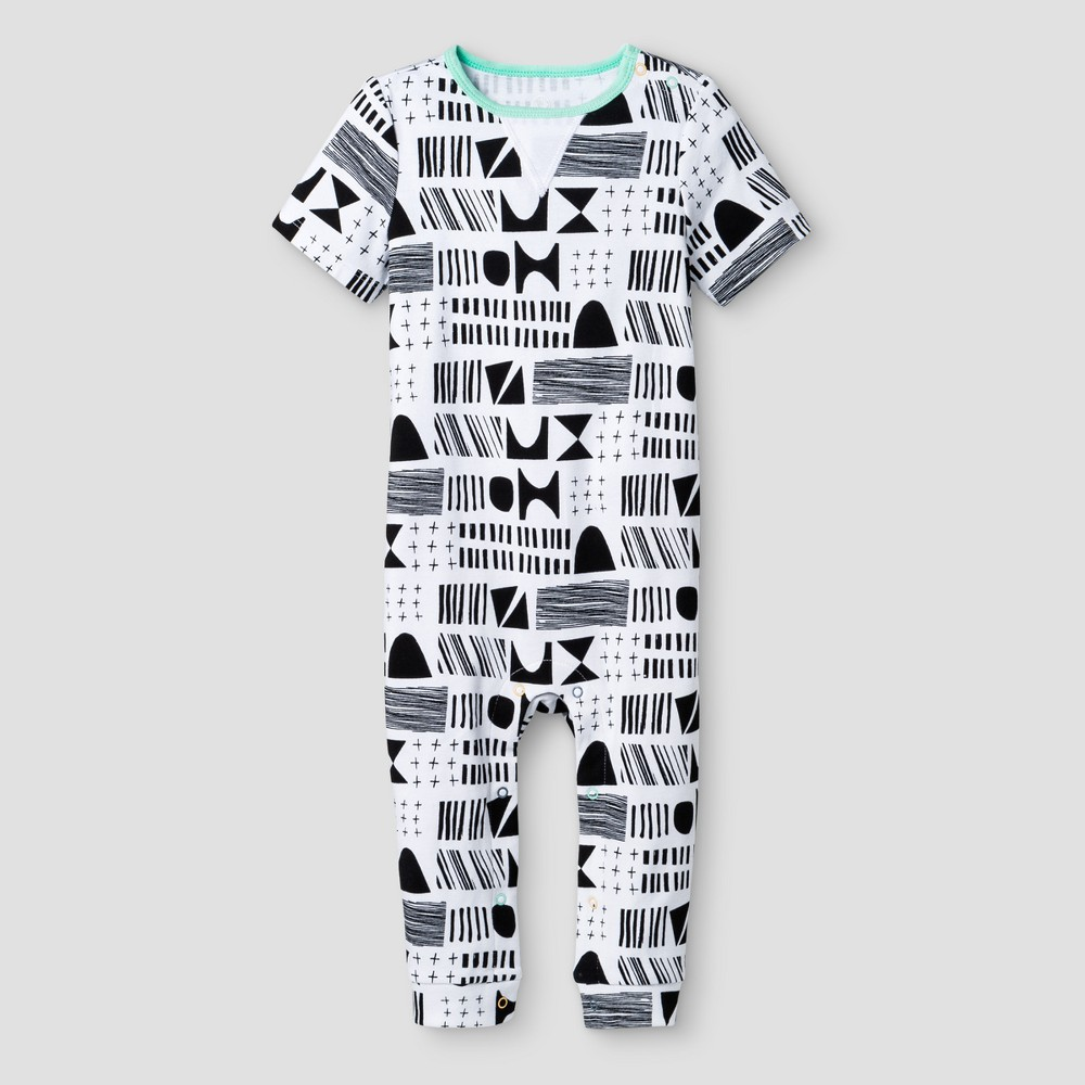 Oh Joy! Baby Geometric Pants Romper - Black/White 0-3M, Infant Unisex, Size: 0-3 M