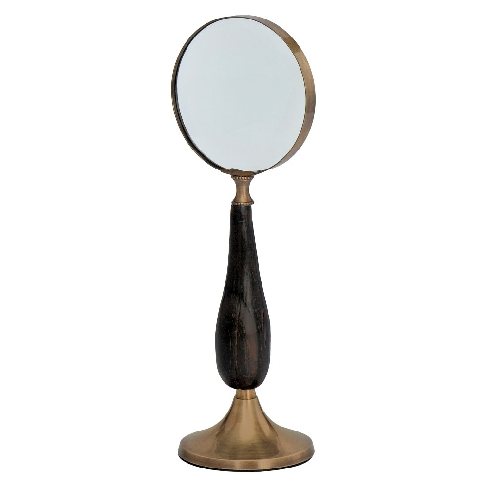 Wood/Brass Standing Magnifier - Go Home