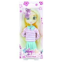 Shibajuku Doll Outfit Aqua Skirt with Pink Stripped Shirt