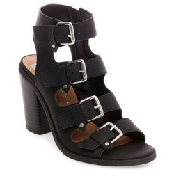 Women's dv Tessa Multiple Buckle Heeled Ankle Strap Sandals