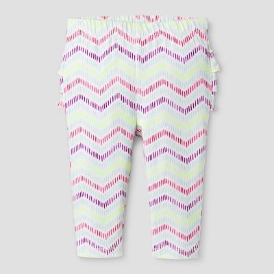 Baby Girls' Striped Leggings Cat & Jack™ - White 3-6 Months