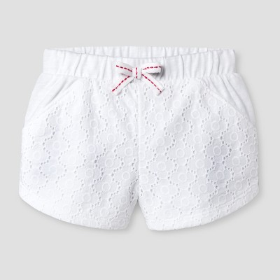 Baby Girls' Eyelet Short Cat & Jack™ White 6-9 Months
