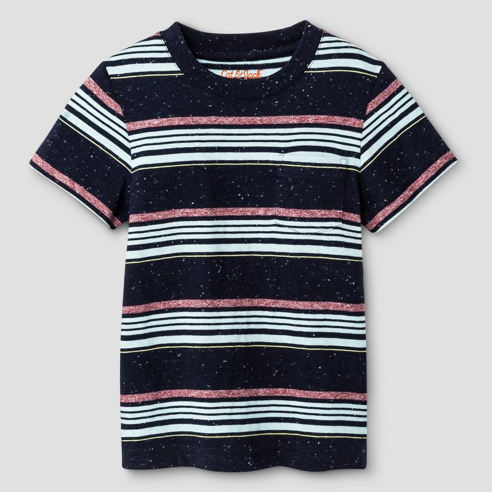 Toddler Boys' Crew Neck T-Shirt - Cat & Jack Ocean Spray 18M, Size: 18 M, Green