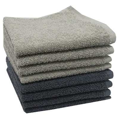Washcloth Dark Gray 8pk - Room Essentials™