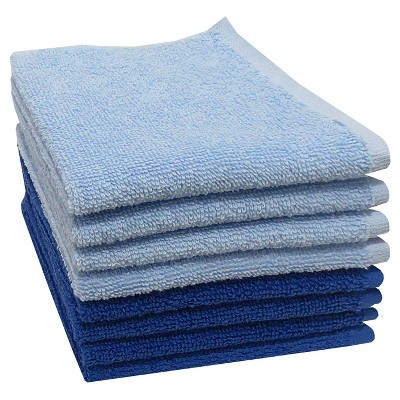 Washcloth Blue 8pk - Room Essentials™