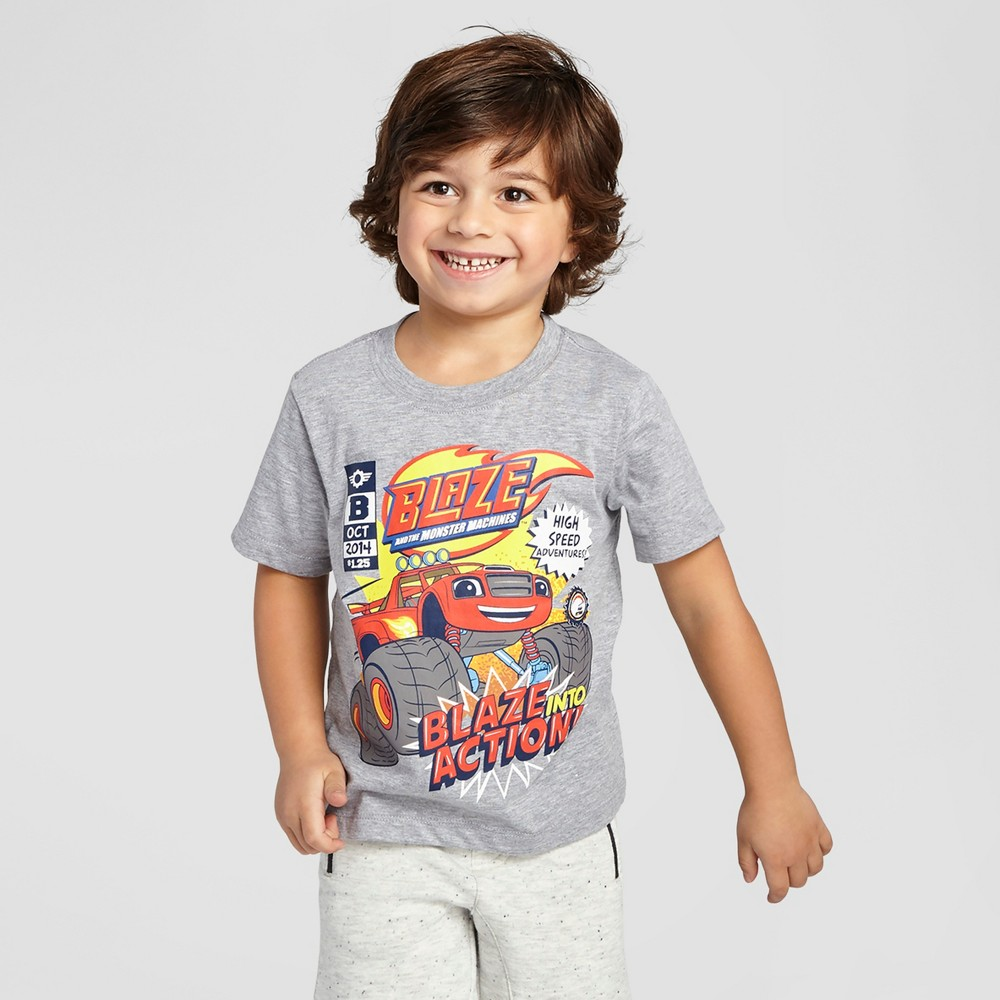 Blaze and The Monster Machines Toddler Boys T-Shirt - Heather Gray 5T