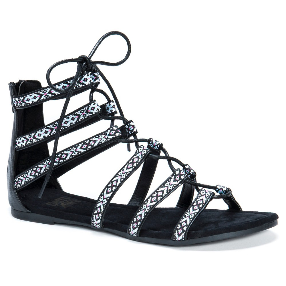 Womens Muk Luks Jessica Ghillie Sandals - Black 7