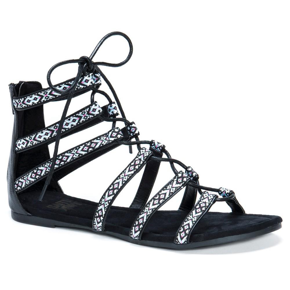 Womens Muk Luks Jessica Ghillie Sandals - Black 8