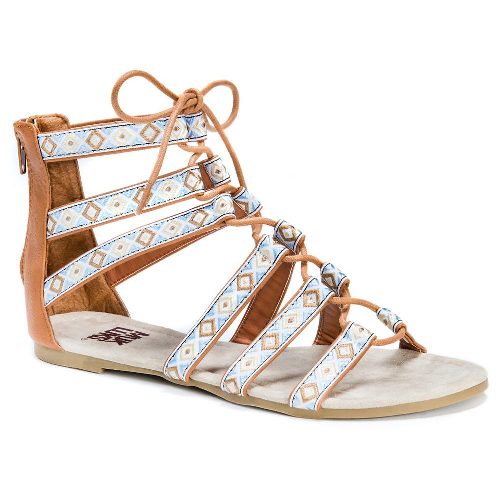 Womens Muk Luks Jessica Ghillie Sandals - Tan 7