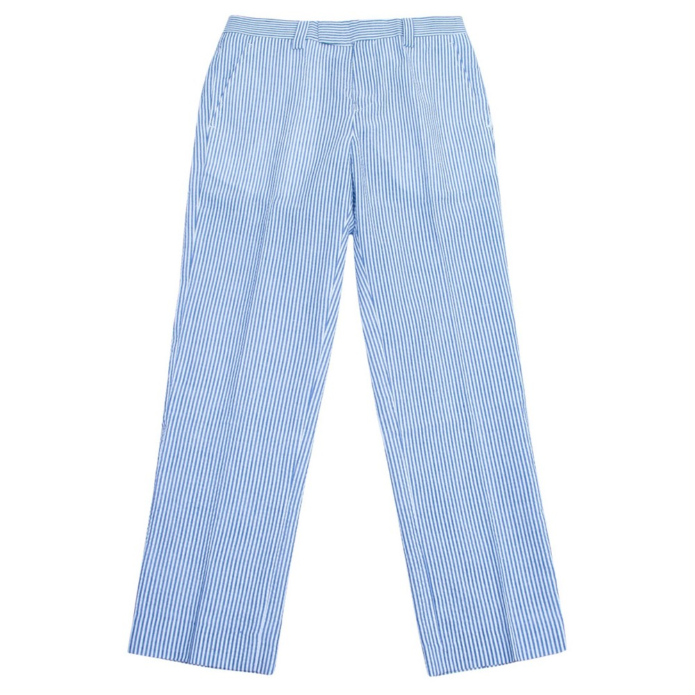 Wd·ny Boys' Pant – Blue and White Seersucker 14, Boy's