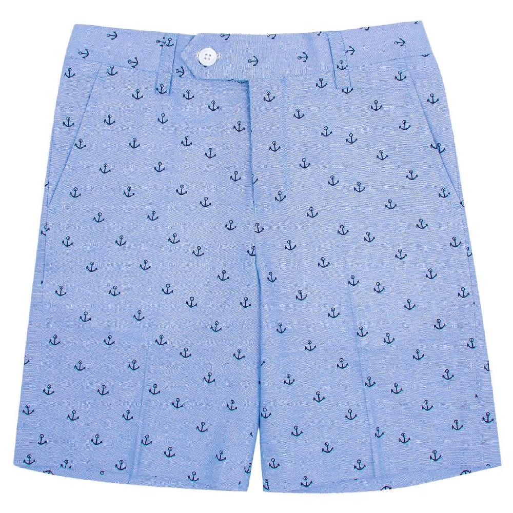 Wd·ny Boys' Anchor Print Shorts – Academy Blue 8, Boy's