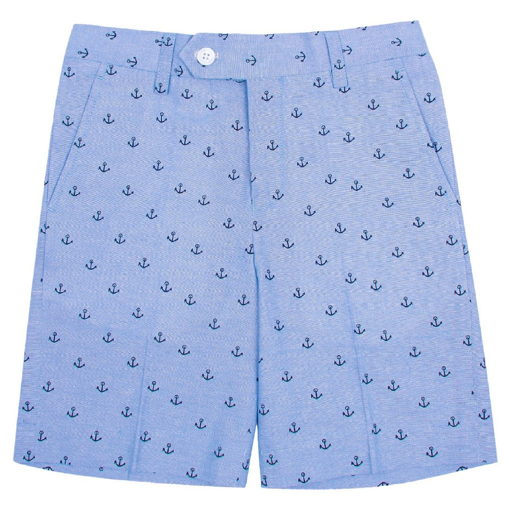 Wd·ny Boys' Anchor Print Shorts – Academy Blue 10, Boy's
