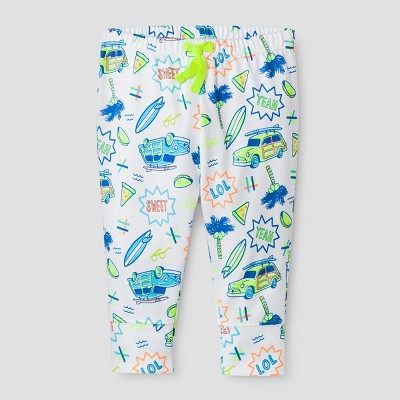 Baby Boys' Summer Icons Leggings Cat & Jack™ - White 0-3 Months
