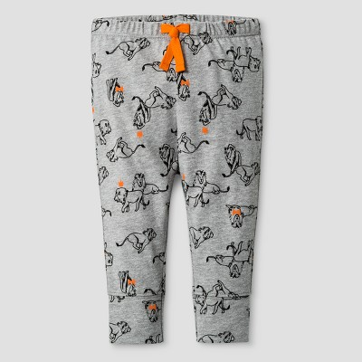 Baby Boys' Print Leggings Cat & Jack™ - Gray NB