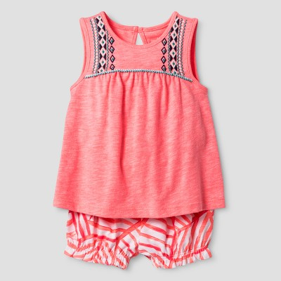 Baby Girls' Coulotte Shorts and Top Set - Cat & Jack™ Pink 0-3 Months