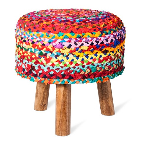Woven Tripod Accent Stool - Threshold™ - image 1 of 2