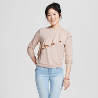 Women's Ruffle Sweatshirt - Mossimo Supply Co.. opens in a new tab.