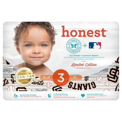 Honest Company Diapers, San Francisco Giants - Size 3 ((34 ct)