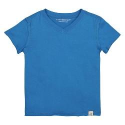 Burt's Bees Baby Boys' Organic High V T-Shirt - Blue