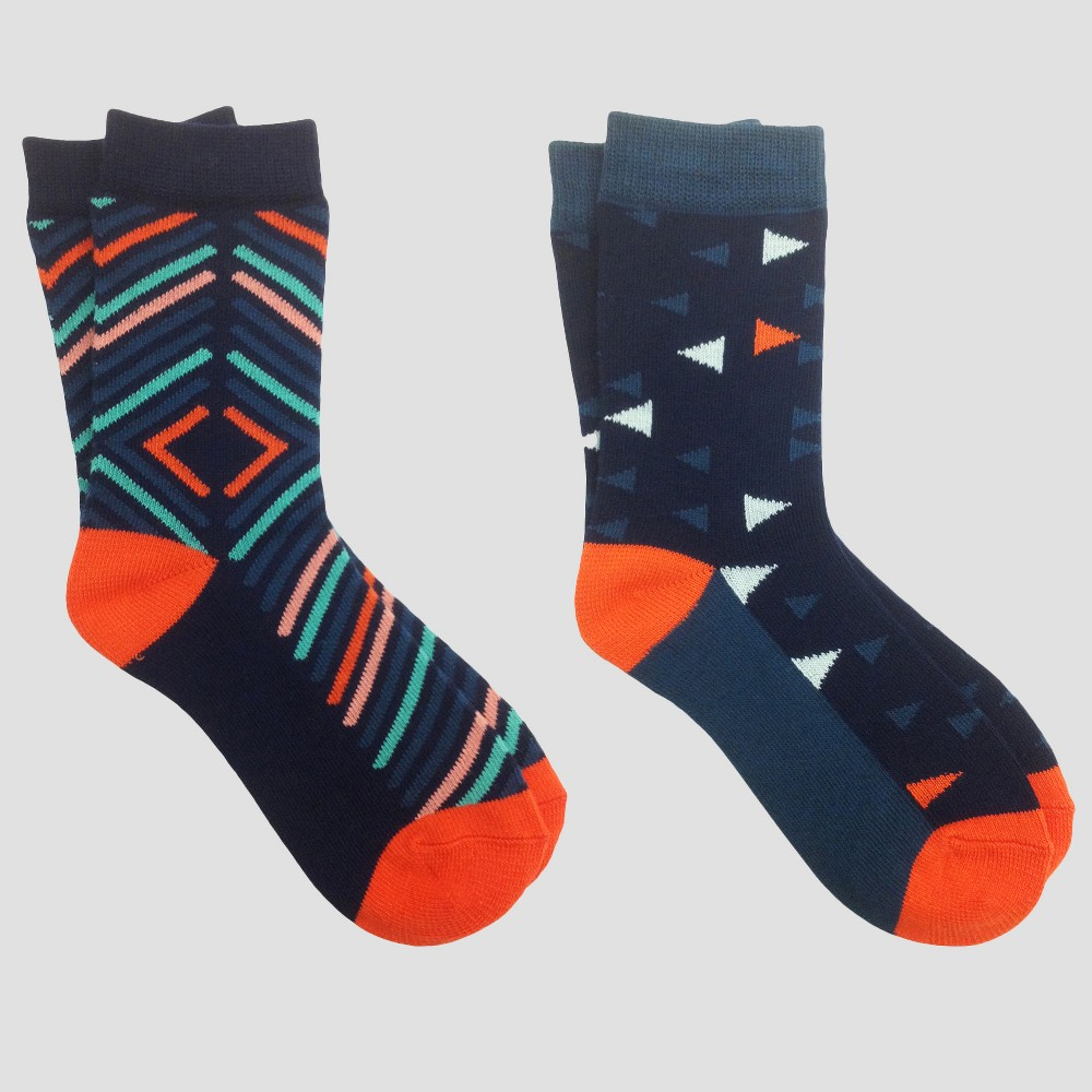 Kids Pair of Thieves Socks - Orange/Turquoise L, Kids Unisex, Green Orange