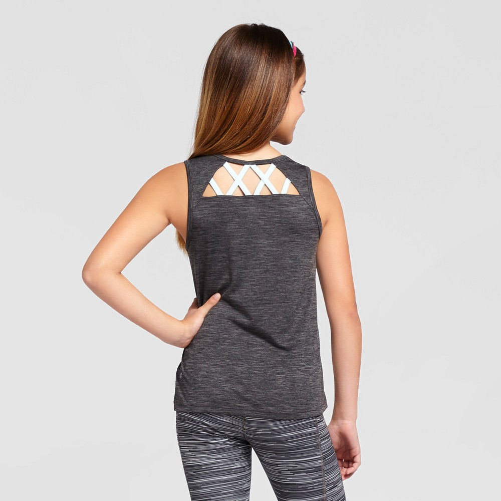 Girls Lattice Tank Top - C9 Champion - Gray XS