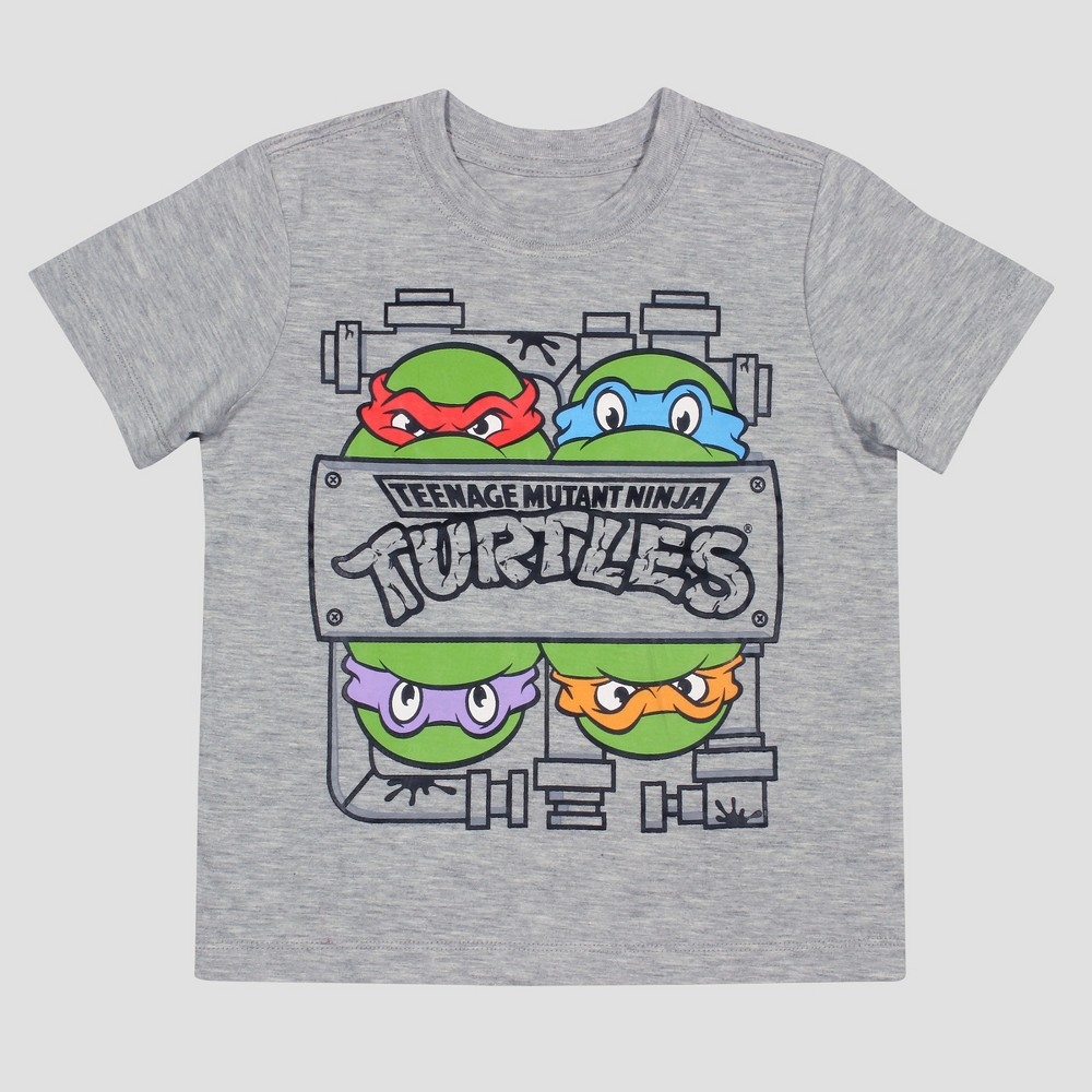 Teenage Mutant Ninja Turtles Toddler Boys Short Sleeve T-Shirt - Heather Gray 3T, Size: 2T