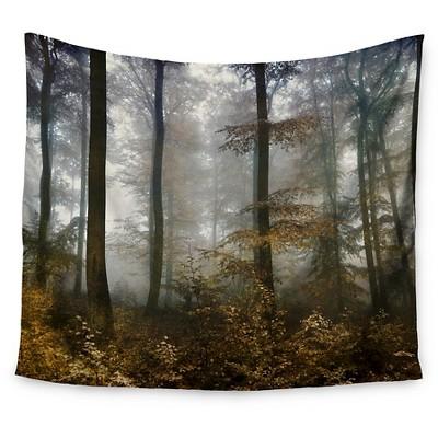 Brown Gray Iris Lehnhardt Forest Mystics Wall Tapestry (51 x60 )- Kess InHouse