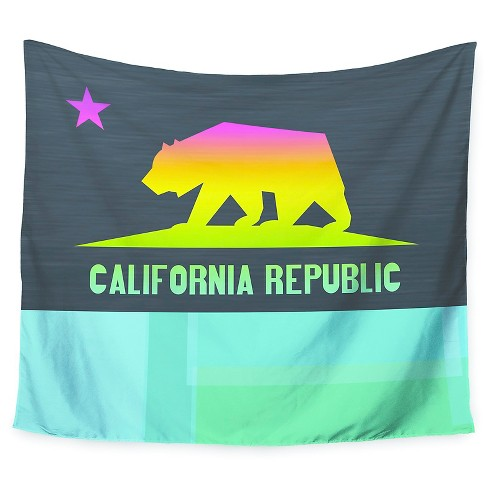 "Teal  Fimbis California Wall Tapestry (51""x60"") - Kess InHouse - image 1 of 1"