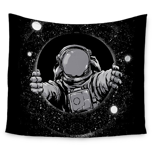 "Black Digital carbine Black Hole Wall Tapestry (51""x60"") - Kess InHouse - image 1 of 1"