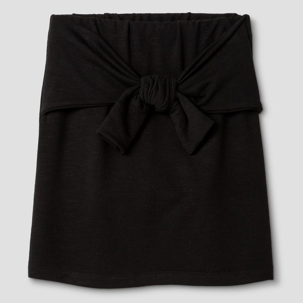 Girls Knit Skirt - Art Class Black S